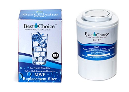 1-Pack GE MWF SmartWater Compatible By Best Choice Water Filters Certified Refrigerator Replacement Cartridge Fits MWFA, MWFP, GWF, GWFA, Kenmore 9991, 46-9991, 469991 -  BCF87