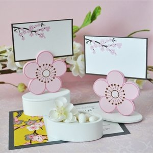 Cherry Blossom Place Card Favor Boxes with Designer Place Cards (Set of 288) - Baby Shower Gifts & Wedding Favors by CutieBeauty BA