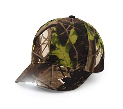UltraKey Hands Free LED Baseball Cap Light Glow Bright Women Men Sport Hat Dark for Outdoor Jogging Breathable Snapback Hats Hip Hop Party Holiday (Camouflage)