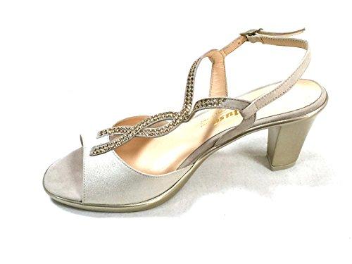 Melluso donna sandalo r5903 platino