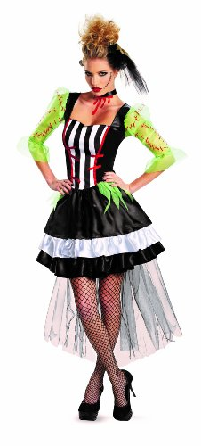 Disguise Kaleidoscope Monsterous Bride Womens Adult Costume, Black/White/Red, Small/4-6 ()