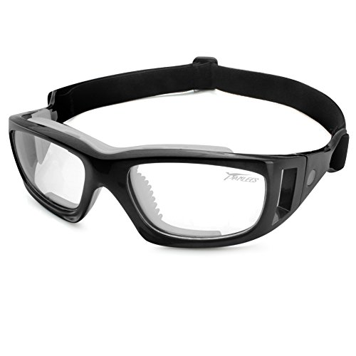 b2b4a31f3a Panlees Goggles Sports Glasses Adjustable Elastic Wrap Eyewear For Soccer  Basketball Tennis Lover (Black) - Buy Online in Oman.