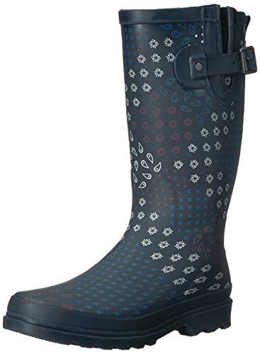 Western Chief Women Women's Waterproof Printed Tall Rain Boot, Pretty Pattern, 11 M US