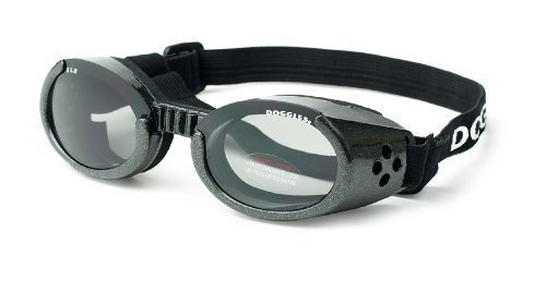 Doggles ILS XL Metallic Black Frame and Smoke - Sunglasses Online Shopping
