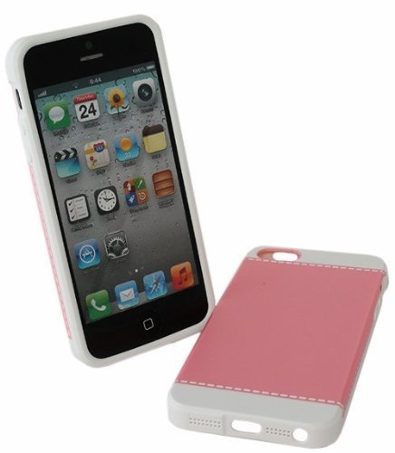 avci Base 4260310645162Design Couture Coque rigide pour Apple iPhone 5/5G Rose/blanc