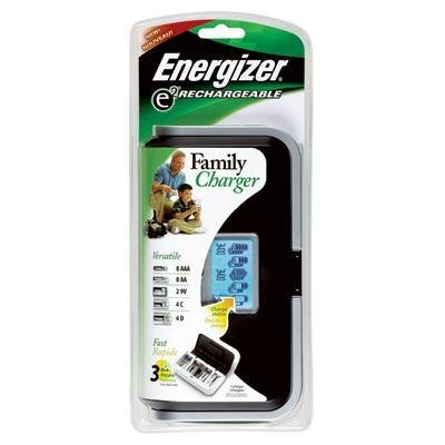 Energizer CHFC Recharge Universal charger Charges 8 AA/AAA, 4 C/D or 1 9V NIMH Batteries, 2.5