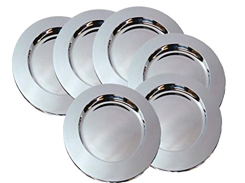 King International- Stainless steel Bar tray/charger plate set of 6 pcs by King International