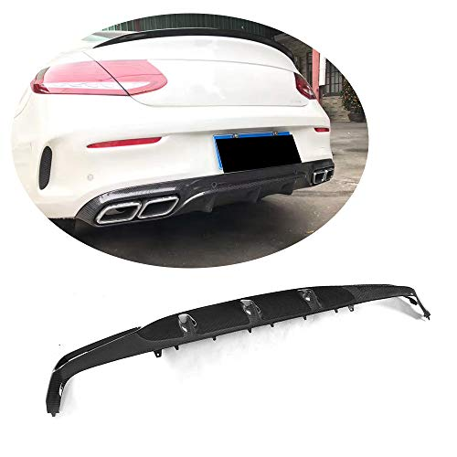 (MCARCAR KIT For Mercedes Benz W205 C205 C63 AMG Coupe 2015 2016 2017 Customized CNC Moulding Replacement Carbon Fiber Rear Bumper Lip Diffuser)