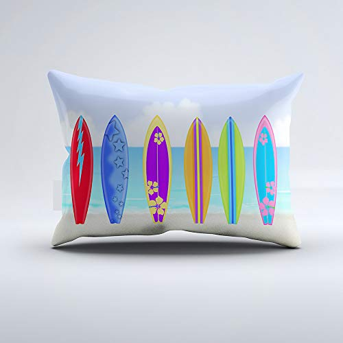 (Zippered Pillow Covers Pillowcases One Side 12x20 Inch Surfboards Beach Pillow Cases Cushion Cover for Home Sofa Bedding)