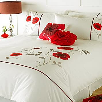 Riva Home Opium Duvet Cover Set, Cream/Red, Double Nice Ideas