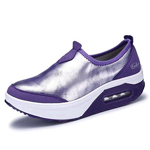 JITIAN - Zapatillas de Deportes de Exterior de Sintético Mujer Morado