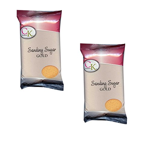 Ck Products Sanding Sugar - CK Products 16 OZ SANDING SUGAR GOLD 2PK
