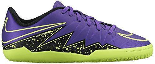 Nike Junior Hypervenom Phelon II (IC) Indoor-Competition Soccer Shoe Grape/Black Size 6 M US