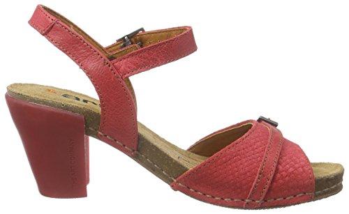 ART I FEEL - Sandalias de vestir de cuero para mujer Rojo - Rot (CARMIN)