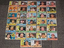 25 Different Vintage Topps Baseball Cards from the 1960's - 4-Pocket ()