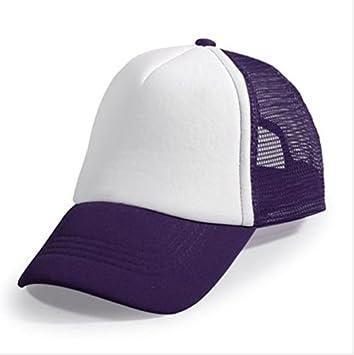 Starworld - Gorra de golf con malla, gorra unisex para personalizar, niña, morado, talla única: Amazon.es: Deportes y aire libre