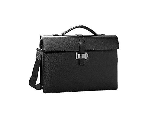 Montblanc 7578 4810 Westside Detachable Strap Gusset Leather Briefcase ()