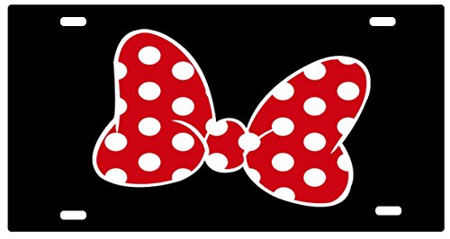 Route 66 Puzzles Walt Disney World License Plate Minnie Mouse Red Bow Disney Disneyland Mickey Mouse Personalized UV Coated