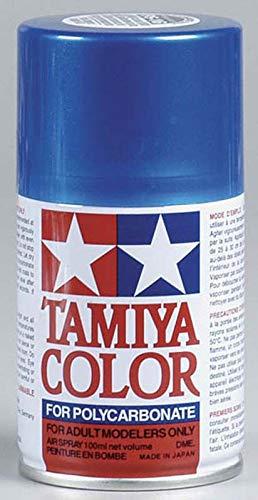 Tamiya America, Inc Polycarbonate PS-16 Metal Blue, Spray 100 ml, TAM86016 (Paint Blue Car Metallic)