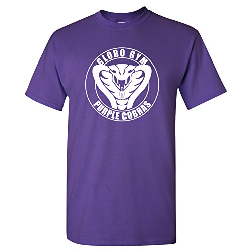 (Globo Gym Cobras T-Shirt Basic Cotton - 2X-Large - Purple )