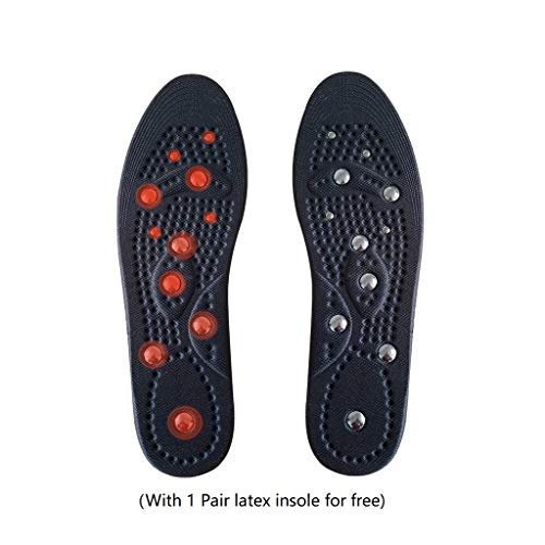 - Massaging Insoles Magnetic Massage Insoles for Women and Men Health Foot Magnetic Therapy Magnet Acupressure Shoe Boots Pads (US Man 6~13)