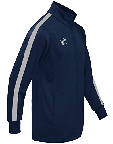 Admiral Reno Soccer Warm Up Jacket, Navy/White, Adult Large