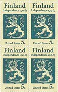 Amazon.com: Finland Independence Set of 4 x 5 Cent US Postage Stamps NEW Scot 1334: Toys & Games