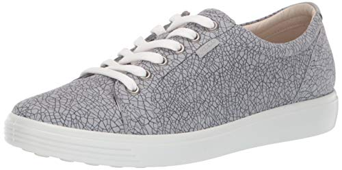 ECCO Women's Women's Soft 7 Sneaker, Magnet/Concrete, 35 M EU (4-4.5 US) ()