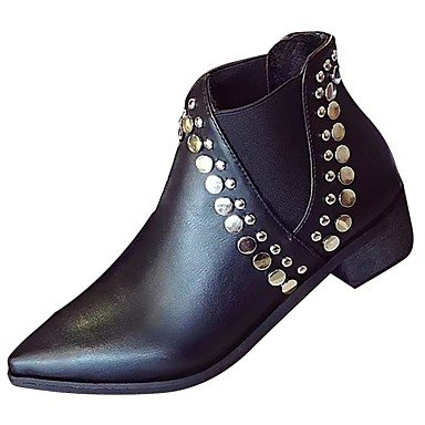 UK4 RTRY EU36 Fall US6 Gore Casual For Fashion Pointed Black CN36 Toe Heel Boots Pu Shoes Boots Low Women'S rtqaTr
