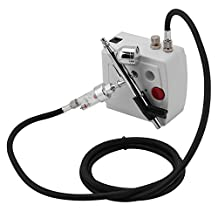 Precision Airbrush Compressor Kit Dual Action Spray Airbrush Air Spray Paint Gun for Cake Decorating Make Up (US Plug)