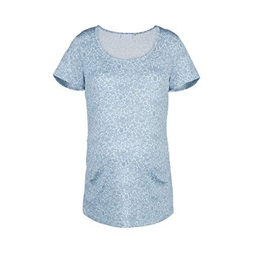 2hearts azul la embarazo para flores impresa toda con camiseta luz el en wxwBa