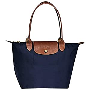 Longchamps Le Pliage Large Shoulder Tote Bag Navy Blue