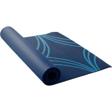 (Lotus Printed Yoga Mat, Blue)