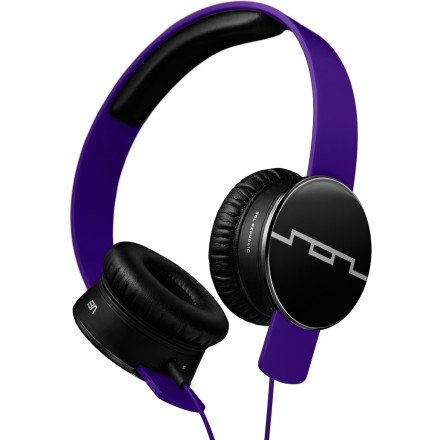 Sol Republic Tracks Headphones Progressive Purple, 1-Button Mic (V8 Headphones Tracks Sol Republic)