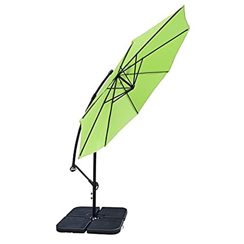 Oakland Living Corporation Troy Lime Green Polyester, Aluminum, and Iron 10-foot Umbrella (First Up Screen Curtain)
