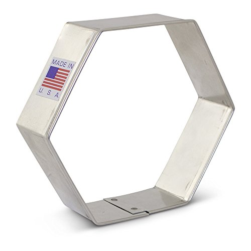 Hexagon Cookie Cutter - 3.5 Inch - Ann Clark - US Tin Plated Steel