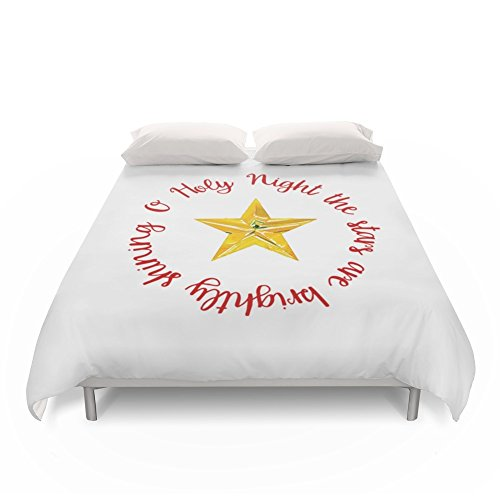 Society6 O Holy Night With Star Duvet Covers King: 104'' x 88'' by Society6