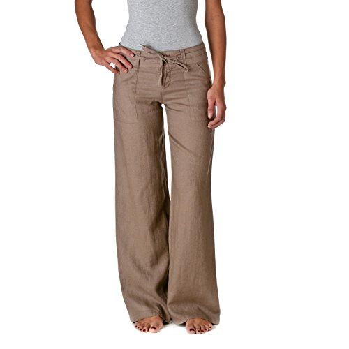 Womens Linen Drawstring Pants - 7