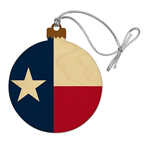 GRAPHICS & MORE Texas State Flag Wood Christmas Tree Holiday Ornament (Austin Ornament Christmas)