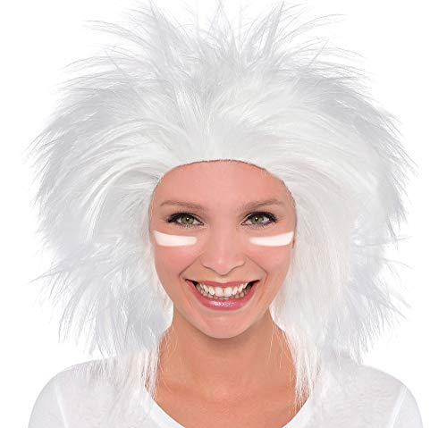 Amscan Crazy Party Wig Costume, White -