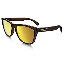 Oakley Men's Frogskins Non-Polarized Iridium Wayfarer Sunglasses 2 patented high definition optics (HDO) provides superior optical clarity and razor-sharp vision at every angle maximum clarity at all angles of vision with patented xyz optics glare reduction and tuned light transmission of iridium lens coating