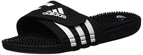 adidas adidasAdissage - Zapatos de Playa y Piscina Hombre Negro (Black/black/running White Footwear)