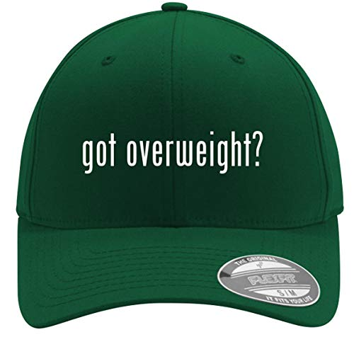 got Overweight? - Adult Men's Flexfit Baseball Hat Cap, Forest, Small/Medium