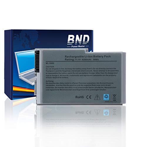 (BND Laptop Battery for Dell Latitude D600 D505 D610 D520 D500 D510 D530 / Inspiron 600M, fits P/N C1295 6Y270 3R305-24 Months Warranty [6-Cell 5200mAh/58Wh])