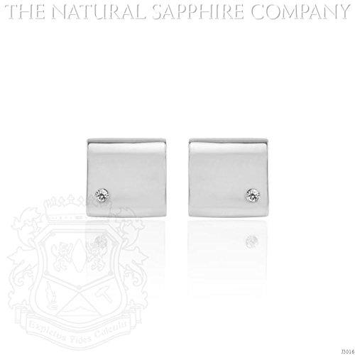 White Sapphire Cufflinks.Total of 0.12ct. (J3016) - Sapphire White Cufflinks
