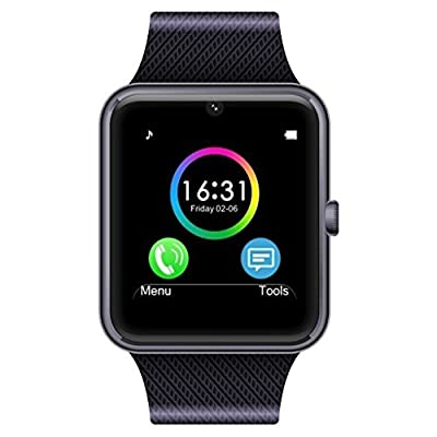 Smart Watch,UINSTONE Smart Phone Smart Watch Phone Bluetooth Smart Watch Wrist Watch Android SIM/TF - Black