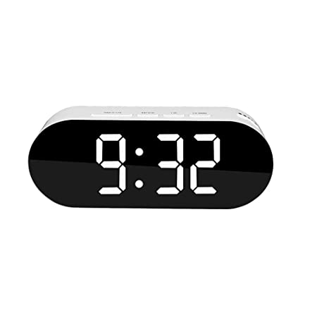 LCRFF Despertador Tabla Digital LED Reloj Pantalla de Temperatura ...