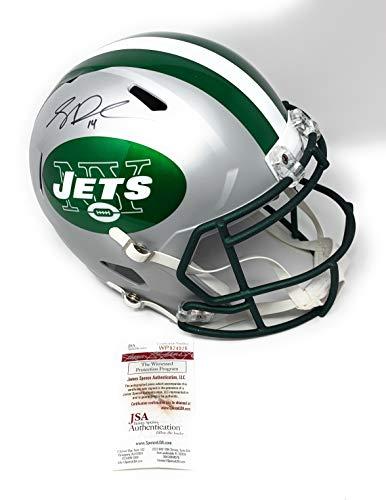 Sam Darnold New York Jets Signed Autograph RARE BLAZE Full Size Speed Helmet JSA Witnessed Certified ()