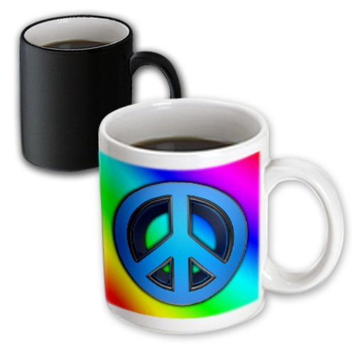 3drose Mug 155150 3 Peace Sign Over Rainbow Background Love Magic Transforming Mug 11 Oz Black White Buy Online In Dominica At Dominica Desertcart Com Productid 22864277
