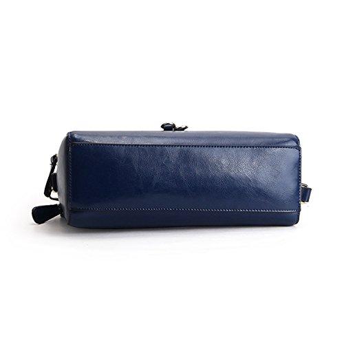 E Bleu femme bandoulière Sac épaule fashion Sac Girl à LF main 9091 en portés cuir Sac RHwqR4